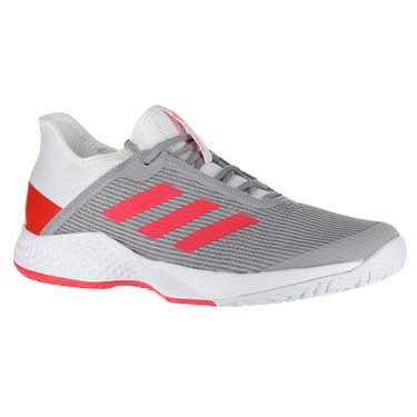 adidas Adizero Club Womens Tennis Shoe - White/Shock Red/Light Granite