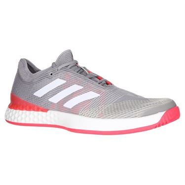 new concept 04626 118c0 adidas Adizero Ubersonic 3 Mens Tennis Shoe - Light GraniteWhiteShock Red  ...