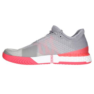adidas Adizero Ubersonic 3 Mens Tennis Shoe - Light Granite/White/Shock Red