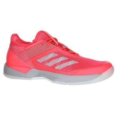 adidas Adizero Ubersonic 3 Womens Tennis Shoe - Shock Red/White/Light Granite
