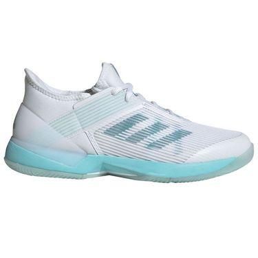 adidas Adizero Ubersonic 3 Parley Womens Tennis Shoe - Blue Spirit/White