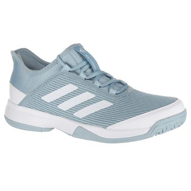 adidas Adizero Club Junior Tennis Shoe - Ash Grey/White