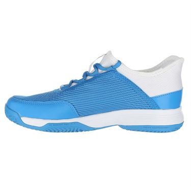 adidas Adizero Club Junior Tennis Shoe - Shock Cyan/White