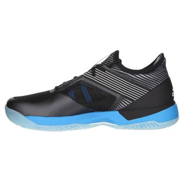 adidas Adizero Ubersonic 3 Clay Womens Tennis Shoe - Ore Black/White/Shock Cyan