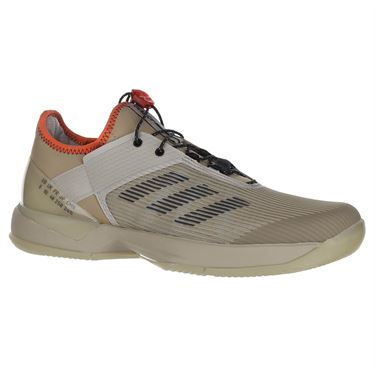 adidas Adizero Ubersonic 3 Citified Womens Tennis Shoe - Light Brown/Grey Six/True Orange