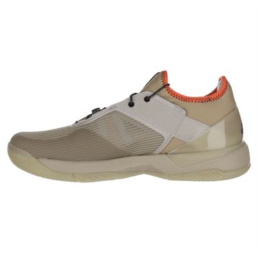 adidas Adizero Ubersonic 3 Citified Womens Tennis Shoe - Light Brown/Grey Six/True Orange