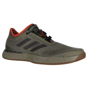 adidas Adizero Ubersonic 3 Citified Mens Tennis Shoe - Raw Khaki/Night Metal/True Orange
