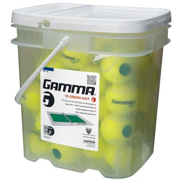Gamma 78 Green Dot Tennis Ball 48 Ball Bucket