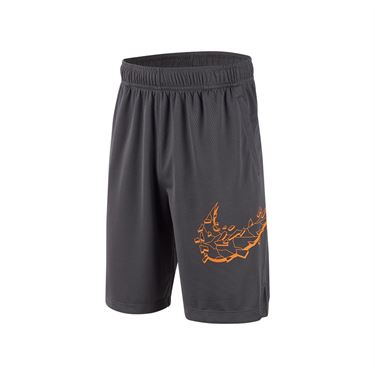 Nike Boys Dri Fit Short - Dark Grey/Orange Peel