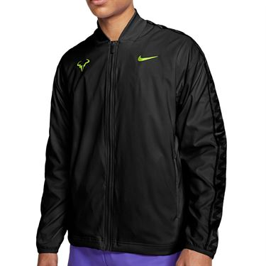 Nike Rafa Full Zip Jacket Mens Black/Volt CI9135 010