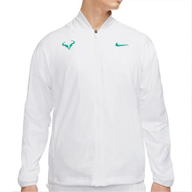 Nike Rafa Full Zip Jacket Mens White/Lucid Green CI9135 100