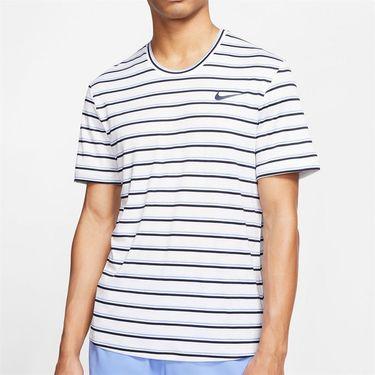 Nike Court Dri Fit Crew Shirt Mens White/Obsidian CI9144 100