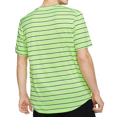 Nike Court Dri Fit Crew Shirt Mens Ghost Green/Obsidian CI9144 358