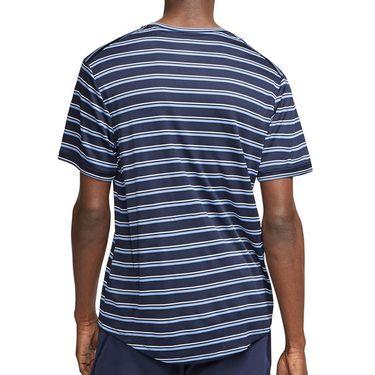 Nike Court Dri Fit Crew Shirt Mens Obsidian/White CI9144 451