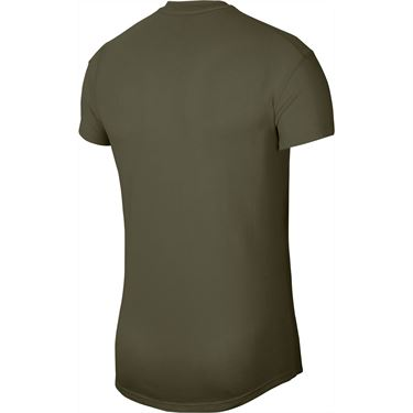 Nike Court Challenger Crew Shirt Mens Medium Olive/White CI9146 222