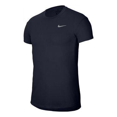 Nike Court Challenger Crew Shirt Mens Obsidian/White CI9146 451