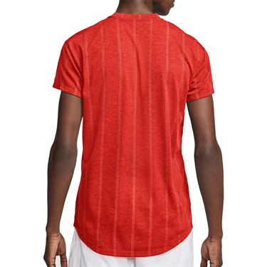 Nike Court Challenger Crew Shirt Mens Habanero Red/White CI9146 634