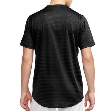 Nike Rafa Challenger Crew Shirt Mens Black/Volt CI9148 010
