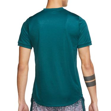 Nike Court Rafa Challenger Shirt Mens Dark Atomic Teal/White CI9148 300