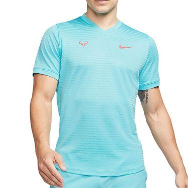Nike Rafa Challenger Crew Shirt Mens Polarized Blue/Laser Crimson CI9148 445