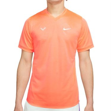 Nike Court Rafa Challenger SS Crew - Bright Mango/Barely Green