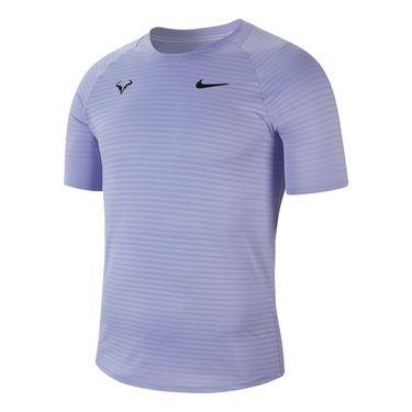 Nike Court AeroReact Rafa Slam Crew Shirt Mens Purple Pulse/Black CI9152 531