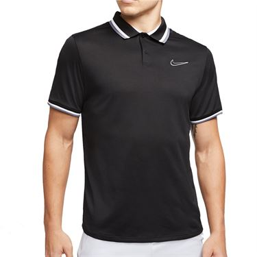 Nike Court Slam Polo Shirt Mens Black CI9158 010