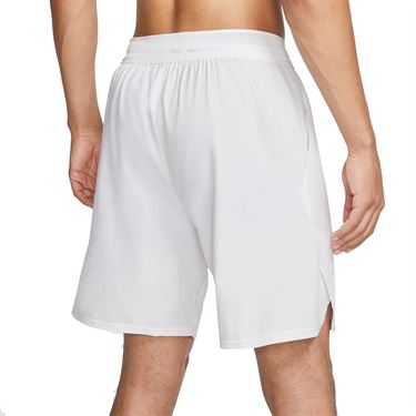 Nike Court Flex Ace 9 inch Short Mens White/Black CI9162 100