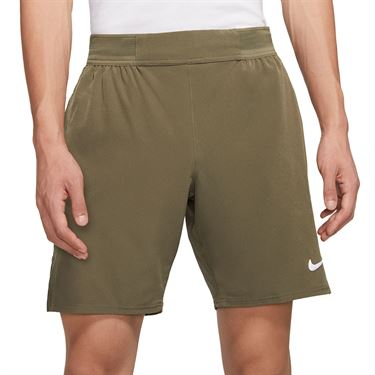 Nike Court Flex Ace 9 inch Short Mens Medium Olive/White CI9162 222