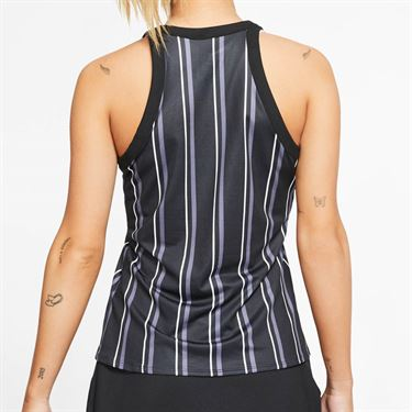 Nike Court Dri Fit Tank Womens Black/White CI9314 010