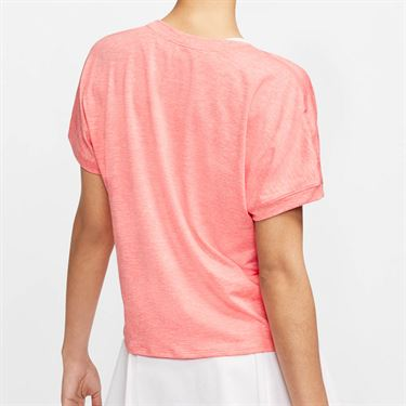 Nike Court Dri Fit Top Womens Sunblush/White CI9316 655