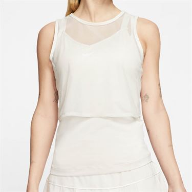Nike Court Dri Fit Sleeveless Top Womens Light Orewood Brown/White CI9320 104