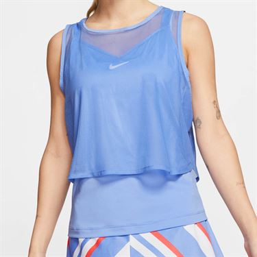 Nike Court Dri Fit Sleeveless Top Womens Royal Pulse/White CI9320 478