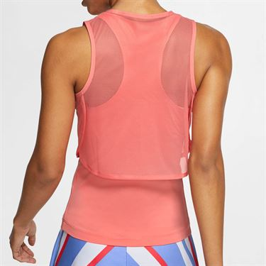 Nike Court Dri Fit Sleeveless Top Womens Sunblush/White CI9320 655