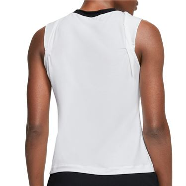 Nike Court Dri Fit Sleeveless Top Womens White/Black/Laser Crimson CI9324 100