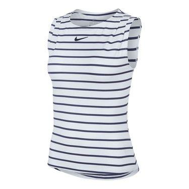 Nike Court Dri Fit Maria Sleeveless Top Womens White/Blackened Blue CI9370 100