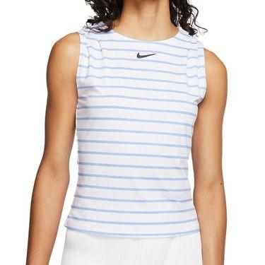 Nike Court Dri Fit Maria Sleeveless Top - White/Blackened Blue