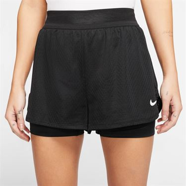 Nike Court Flex Short Womens Black/White CI9378 010