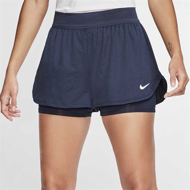 Nike Court Flex Short Womens Obsidian/White CI9378 451