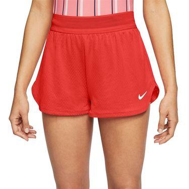 Nike Court Flex Short Womens Habanero Red/White CI9378 634