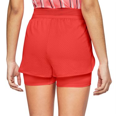 Nike Court Flex Short Womens Habanero Red/White CI9378 634