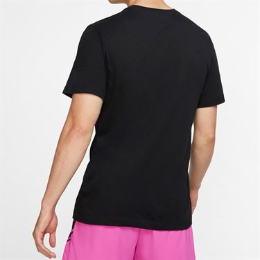 Nike Court Tennis Graphic Tee - Black/Volt
