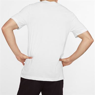 Nike Court Tennis Graphic Tee - White/Black
