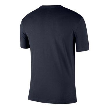 Nike Court Tennis Graphic Tee Shirt Mens Obsidian/White CJ0429 452