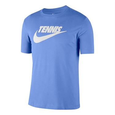 Nike Court Tennis Graphic Tee Shirt Mens Royal Pulse/White CJ0429 478