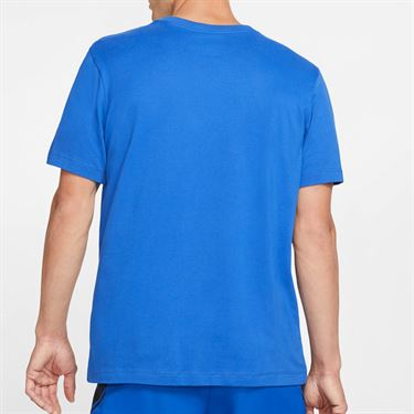 Nike Court Dri Fit Graphic Tee Shirt Mens Game Royal/Volt CJ0429 480