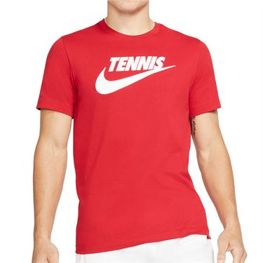 Nike Court Tennis Graphic Tee Shirt Mens Gym Red/White CJ0429 687