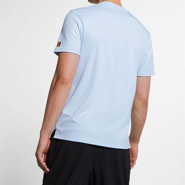 Nike Court Heritage Tee - Half Blue/White