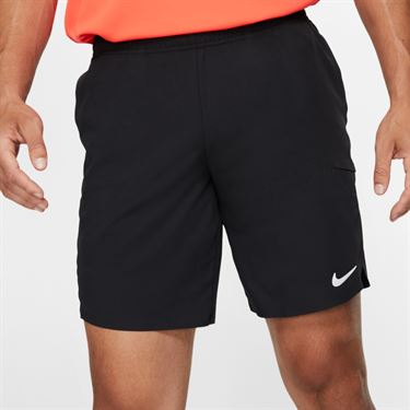 Nike Court Flex Ace Short 9 inch - Black/Canyon Gold