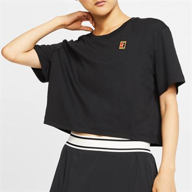 Nike Court Tee Shirt Womens Black CJ0669 010